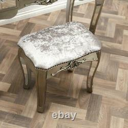 Mirrored Bedroom Dressing Console Glass Table Stool Mirror Vanity Desk Vénitien