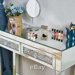 Mirrored Coiffeuse Vanity Dresser Console Chambre Tabouret Miroir De Maquillage Fm108