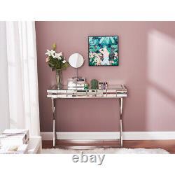 Mirrored Dressing Table Vanity Dresser Console Chambre À Coucher Glass Design Makeup Desk