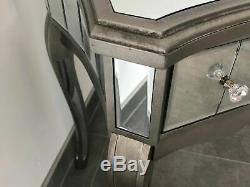 Mirrored Style Français Argente Coiffeuse Console