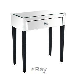 Moderne 1 Tiroir Mirrored Coiffeuse Vanity Dresser Console Meubles De Chambre À Coucher