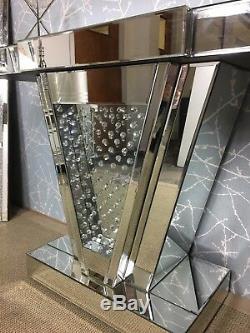 Mousseux Miroir Argenté Flottant Cristal V Console Affichage Coiffeuse