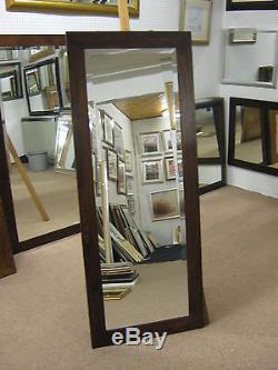 Nouveau Acajou Foncé 4 Modern Flat En Chêne Massif Longue Et Pleine Longueur Miroirs Dressing