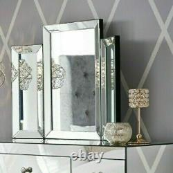 Nouveau Glam Bvelled Dressing Table Miroir Glitz Vanity Maquillage Mirror Seulement