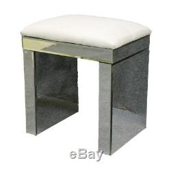 Nouveau Verre Mirrored Furniture Coiffeuse Avec Tiroirs Diamant Console Chambre