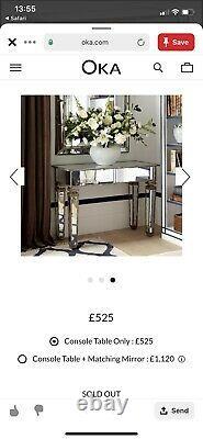Oka Versailles Dressing Side Table Verre Miroir