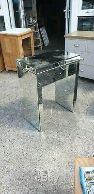 Petit Miroir En Verre Coiffeuse / Side / Lampe / Table Console Del Avail