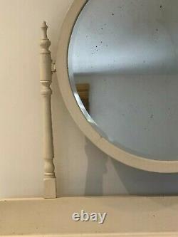 Poitrine Peint Antique De Tiroirs / Coiffeuse Avec Miroir, Shabby Chic