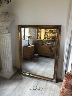 Rare Extra-large Rococo Ornement Or Gilt Miroir Avec Dressing. Biseautées En