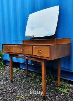 Retro MID Century Wrighton Table D'habillage Compacte + Miroir + Étagère En Verre