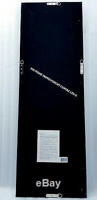Sparkly Argent Miroir Mural Flottant Cristal Cadrage Grand Dressing 120x40cm