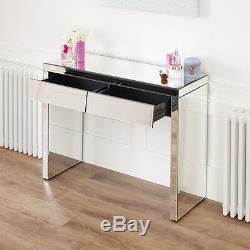 Style Des Années 50 À 2 Tiroirs Angled Coiffeuse Set Tabouret Blanc Ven25-ven39-ven05w