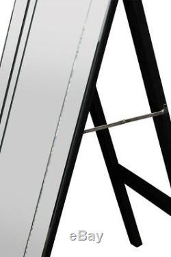 Superbe Très Moderne Mitred Vénitien Autoportant Cheval Mirror Dress 5ftx1ft3