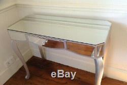 Table Console Habillage Venise Verre À Glace Avec Un Tiroir Largeur 97cm