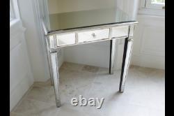 Table D'habillage En Verre Miroir Antique Console Table Table Lampe De Côté