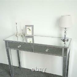 Table D'habillage Miroir 2 Tiroir Clear Mirror Nouveaux Meubles