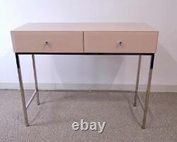 Table D'habillage Miroir En Verre 2 Tiroir Venetian Bedroom Furniture Vanity Blush