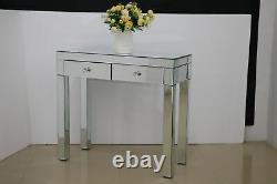 Table De Chambre En Verre Miroir /tables De Chevet / Console Miroir Vanity Royaume-uni