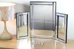 Table De Dressage Led Free Standing Vénitien Triple Chambre Miroir 78 X 54 X 2.3cm