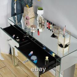 Table De Meubles De Chambre À Coucher Miroir En Verre, Tabouret, Miroirs Et Table De Chevet