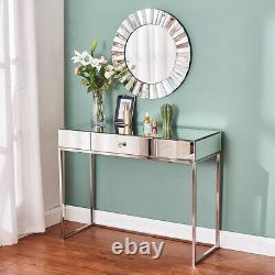 Table De Toilette En Verre De Meubles Miroirs Avec La Salle De Chambre De La Console De Tiroir Vanity Uk