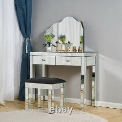 Table De Vanité Miroir De Miroir De Miroir De Table De Tabouret De Tabouret De Chambre À Coucher De Maquillage