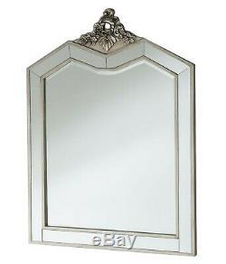 Table Mirrored De Pansement Avec Tabouret Et Miroir En Verre Antique Vintage Silver Nouveau