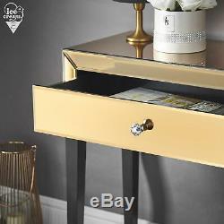 Table Rose D'or Mirrored Vinaigrette Tiroir Cristal Bouton Chambre Rangements Pour Bijoux