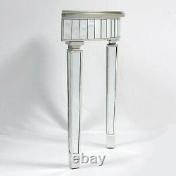 Table Vénitienne De Vinaigrette Argentée Demi-lune Table Miroir De Console