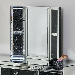 Tableau Black Diamond Crush Mirrored Pansement Tabouret Miroir Vanity Vénitien Nouveau
