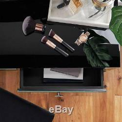 Tableau Noir Mirrored Vinaigrette Tiroirs High Gloss Verre Miroir De Maquillage Bureau Nouveau