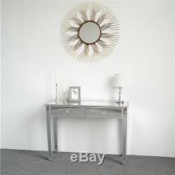 Tiroirs Verre Coiffeuse Mirrored Chambre Make-up Table Console Vanity