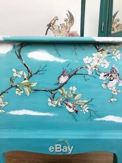 Turquise Blue Bird Design Stag Coiffeuse & Miroirs Livraison Gratuite