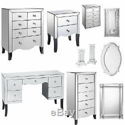 Valentina Chambre Mirrored Furniture Armoire De Chevet Coiffeuse Miroirs