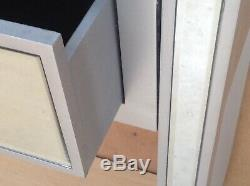 Valetta Bois Argent Console De Verre En Miroir Coiffeuse Largeur 90cm