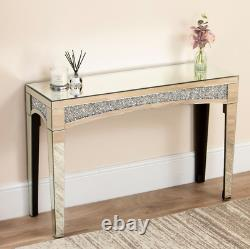Venetian Mirrored Console Table Hall Clear Mirror Diamond Dressing Table Chambre