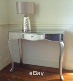 Venise Miroir Verre Une Largeur De Table De Toilette Console De Tiroir 97cm