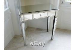 Vénitien En Verre Ou En Miroir Coiffeuse Console Table Antique Garniture Argent