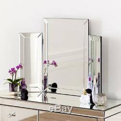 Vénitien Mirrored Coiffeuse Avec Tri-verso Chambre Miroir Ven66-ven39