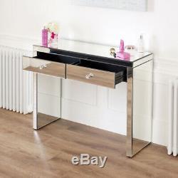 Vénitien Mirrored Coiffeuse Set Avec Blanc Tabouret Ven66-ven05w-ven41