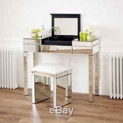 Vénitien Mirrored Compartiment Coiffeuse Chambre Meubles Ven92