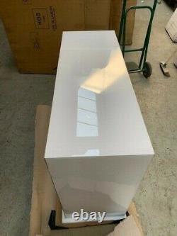 Verre Blanc - Miroir Deux Tiroirs Console Dressing Table Rrp 299,00 Euros