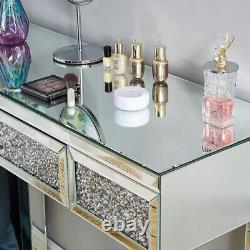 Verre Miroir Withdiamond Meubles De Chambre À Coucher-dressing Table De Maquillage, Tabouret, Miroir