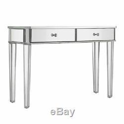 Verre Mirrored Table 2 Dressing Tiroirs 3 Tabouret Table Pliante Mobilier Dresser