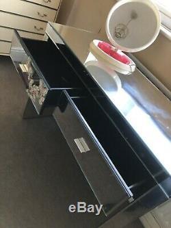 Verre Vintage Mirrored Coiffeuse. Bureau Table D'écriture. Boutique Comptoir