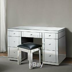 Westwood Verre Mirrored Furniture Coiffeuse Avec Chambre Console Tiroir