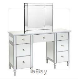 Wren Vénitien Miroir Make Up Table Shard Classsic Antique Silver Coiffeuse