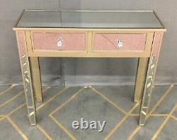 (c&c) 2 Table D'habillage Miroir En Verre Tiroir